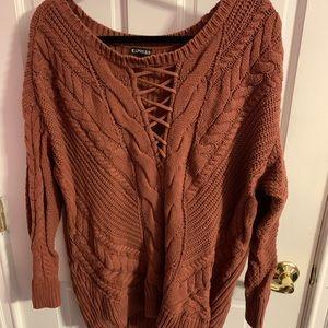 Super cute orange sweater from Express